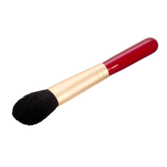 熊野化粧筆チークブラシ ショート(エンジ)