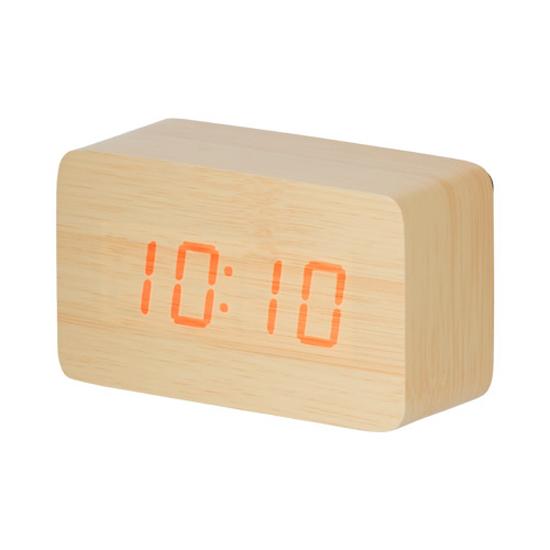ウッド調LEDクロック