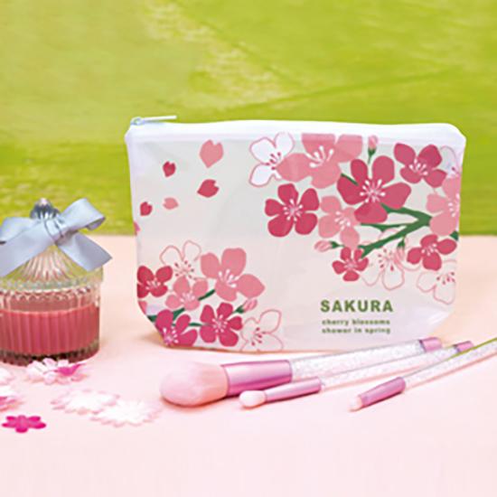 桜ひらり クリアポーチ