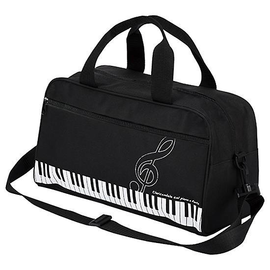 ピアノライン ボストンバッグ(ト音記号)